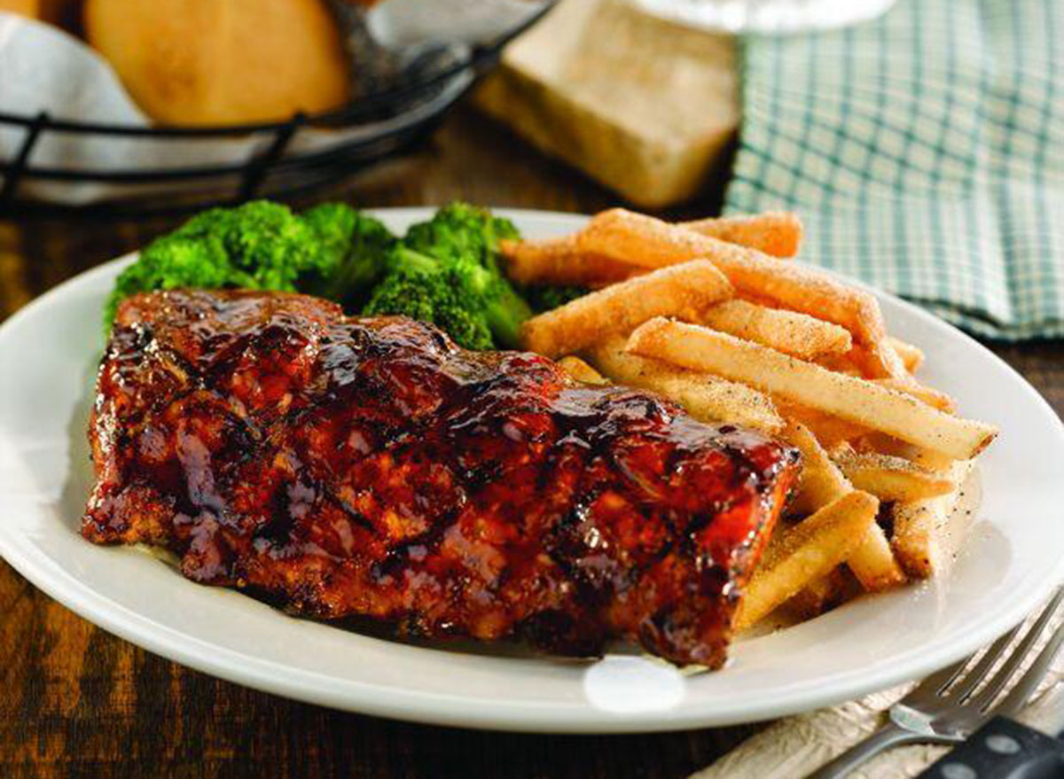ocharleys ribs meal