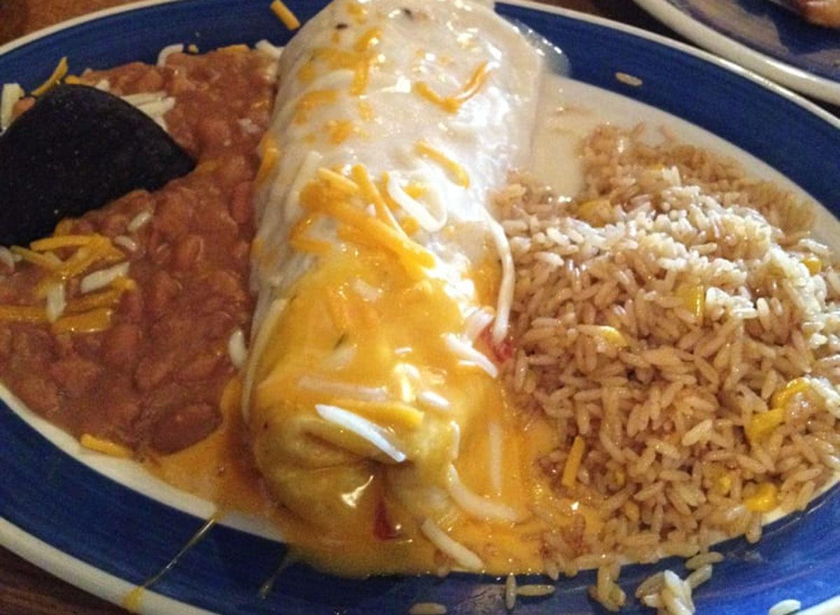 on the border three sauce fajita burrito