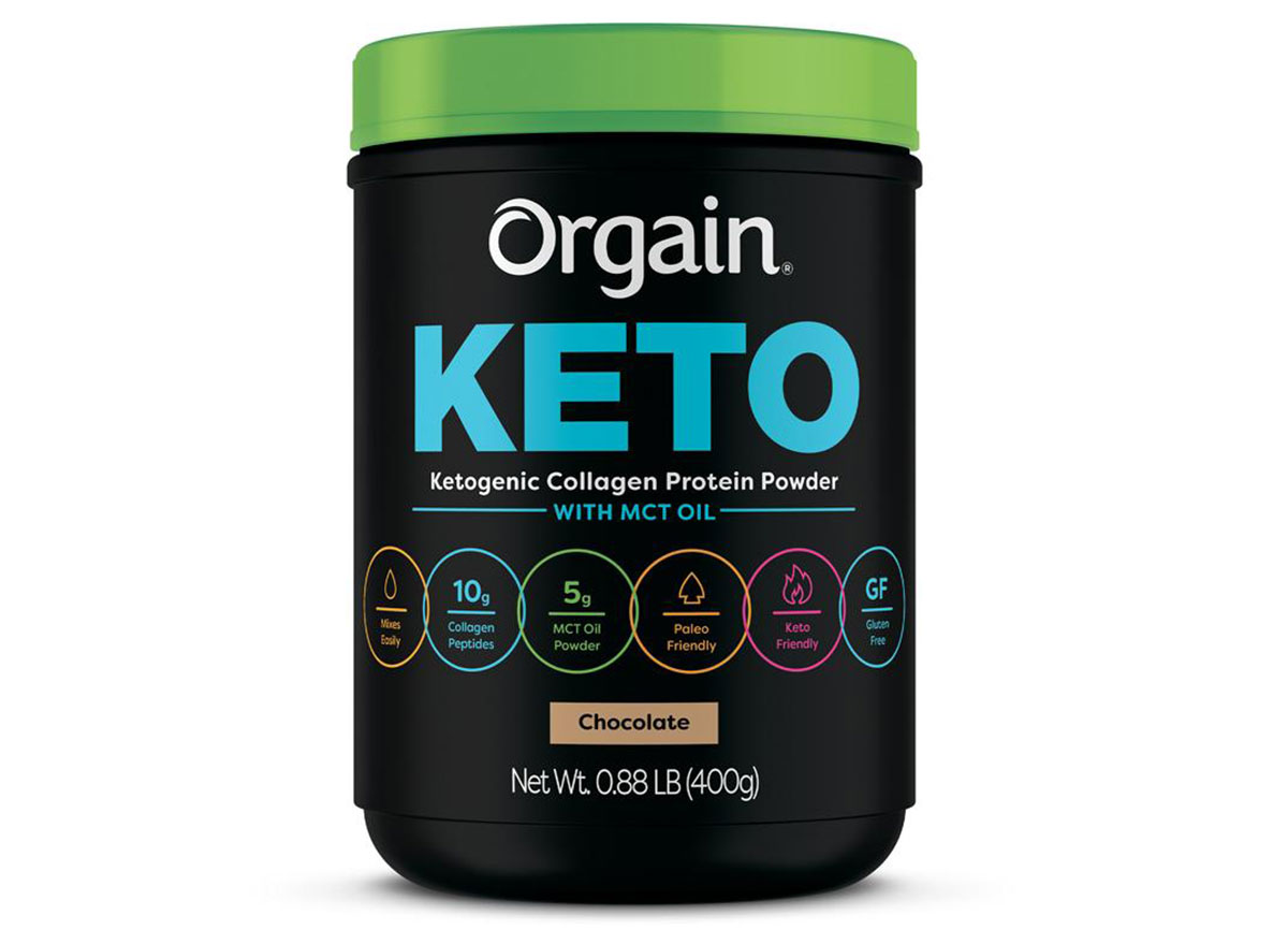 orgain organic keto protein powder