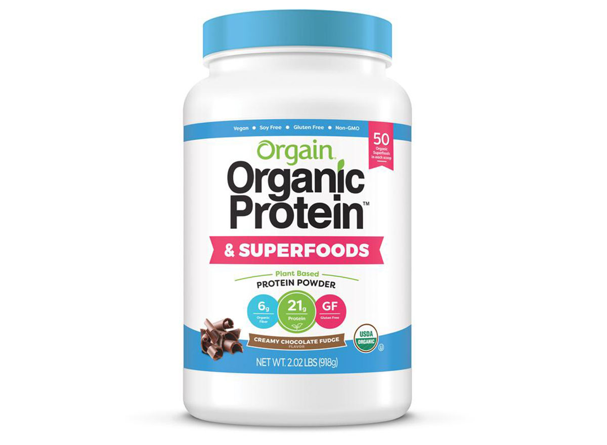 orgain organic plant based protein superfoods