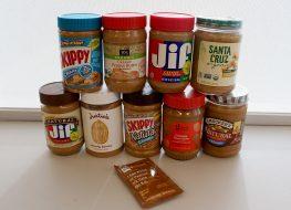 peanut butter taste test pile