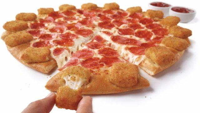 pizza hut mozzarella poppers pizza