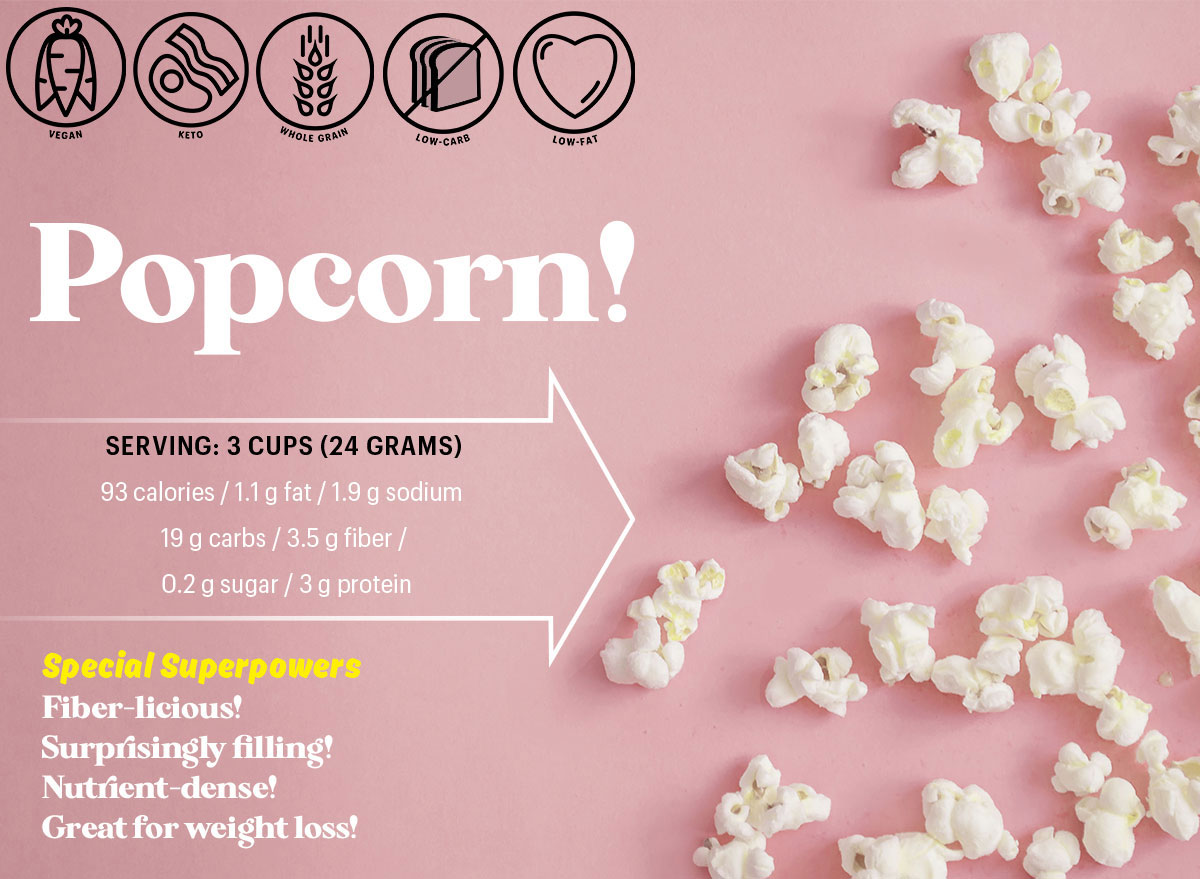 popcorn nutrition profile