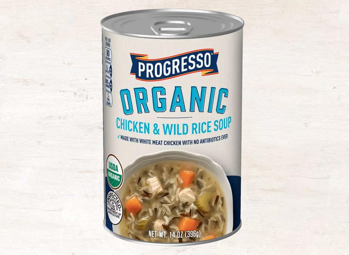 progresso organic chicken and wild rice soup