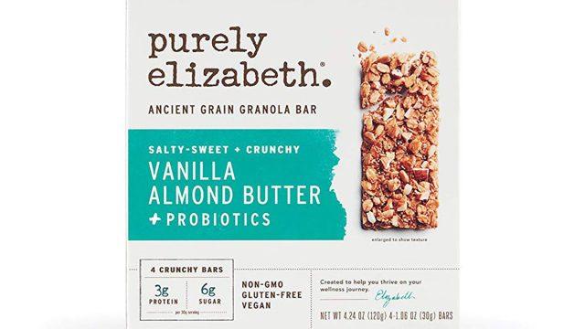 box of purely elizabeth vanilla almond butter granola bars
