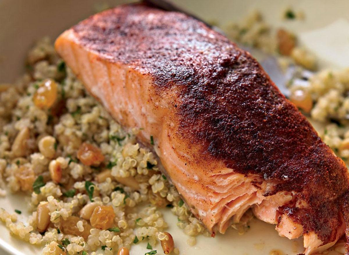quinoa pilaf salmon