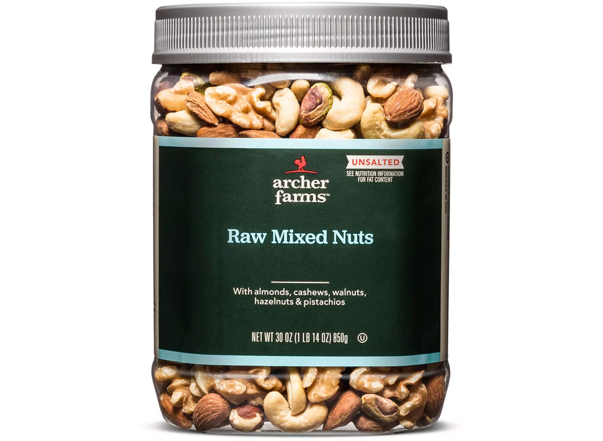 archer farms raw mixed nuts
