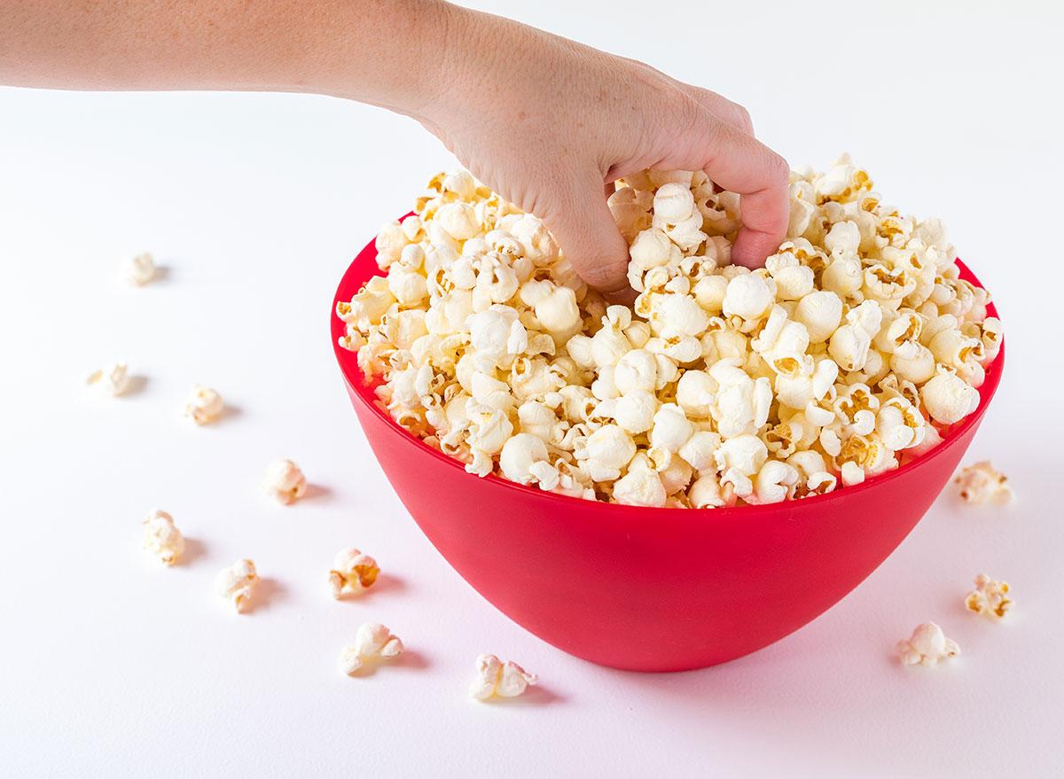red bowl popcorn