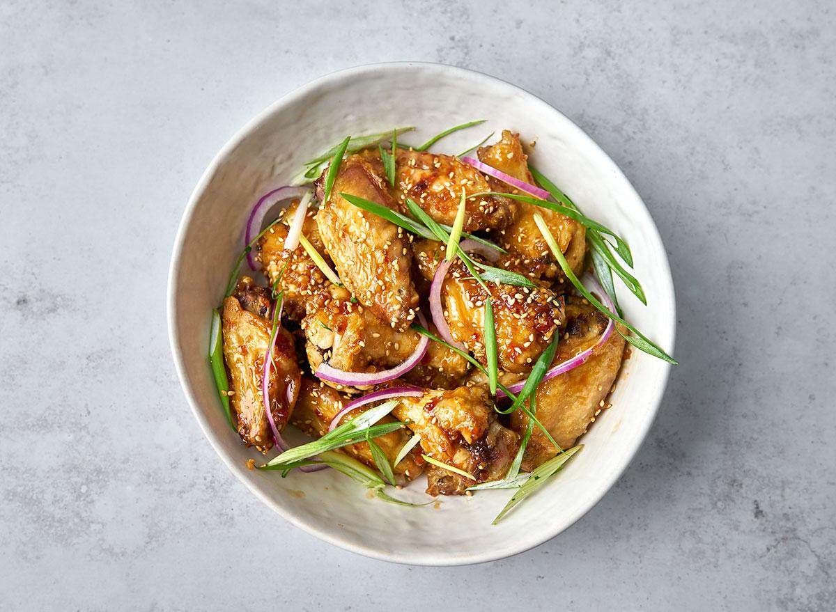 sesame soy garlic chicken wings