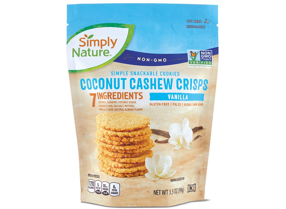 simply nature coconut crisps