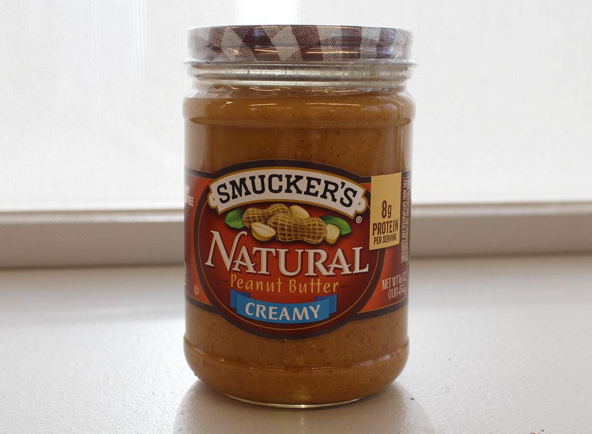 smuckers natural peanut butter jar