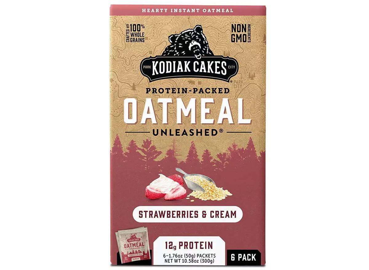 strawberries and cream oatmeal