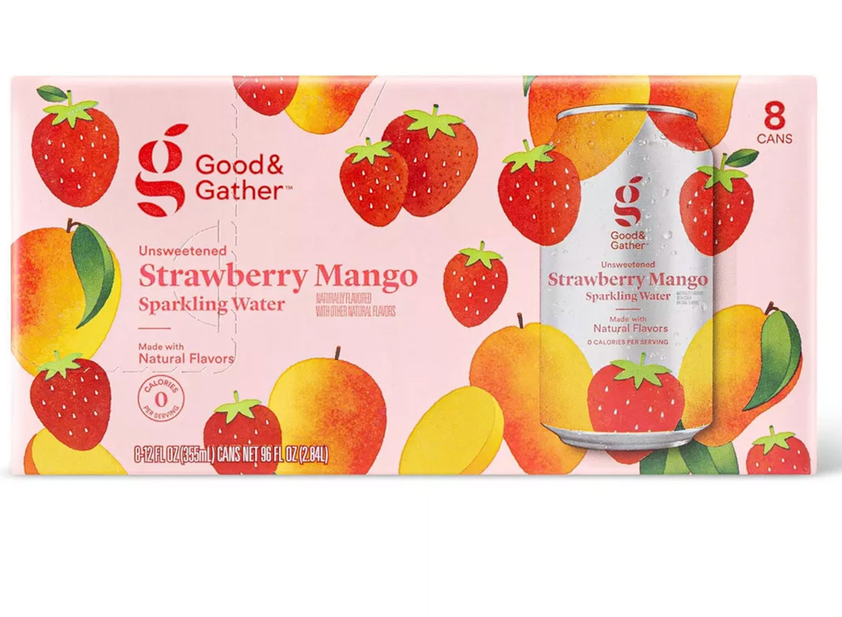 good and gather strawberry mango sparkling water