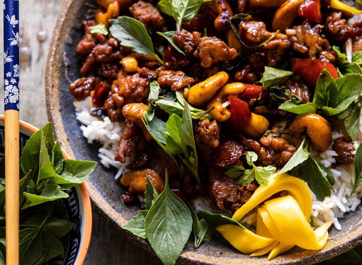 ground chicken recipes sweet thai basil chicken
