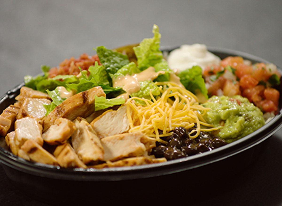 taco bell power chicken bowl