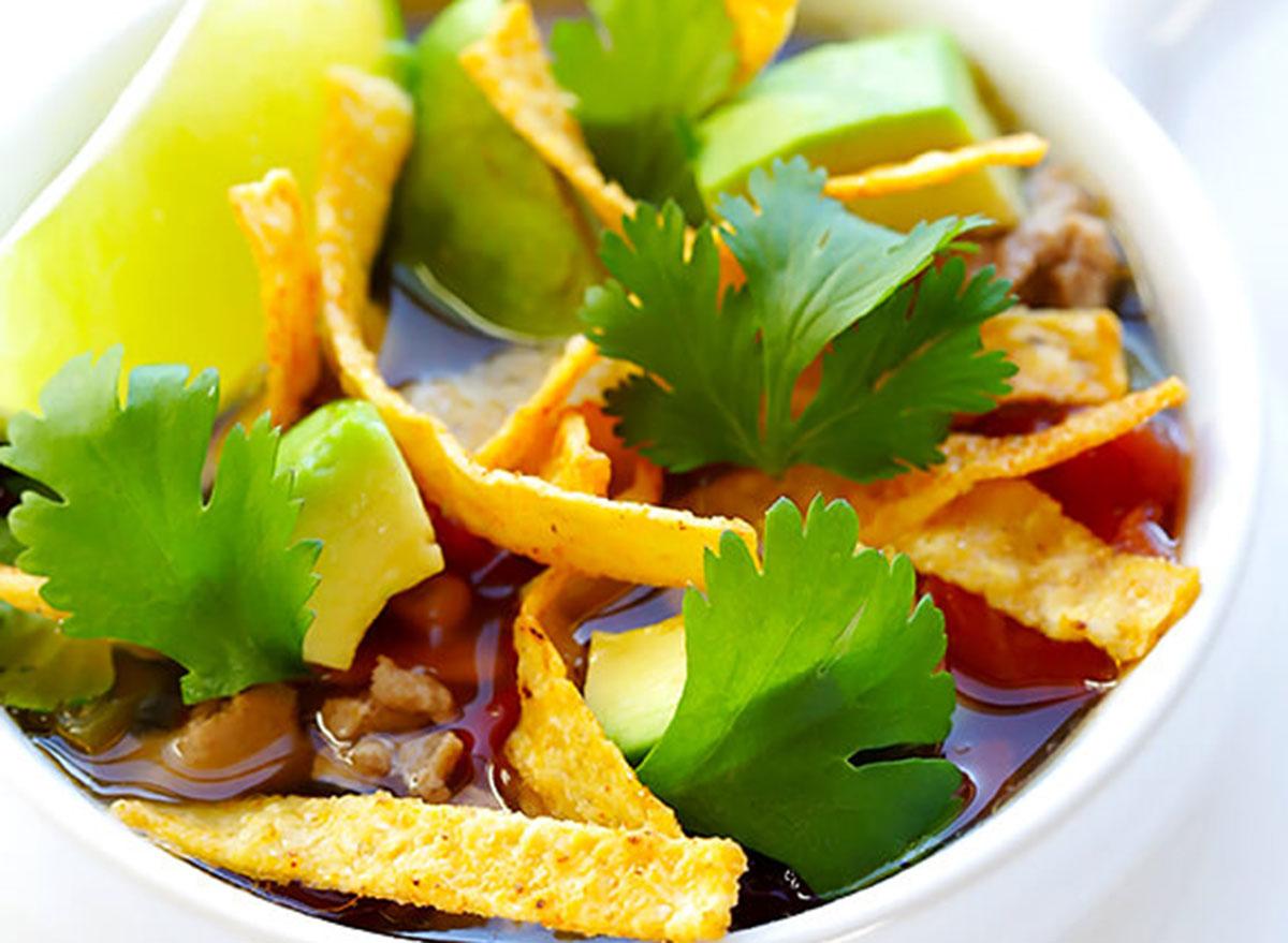 ground chicken recipes taco soup