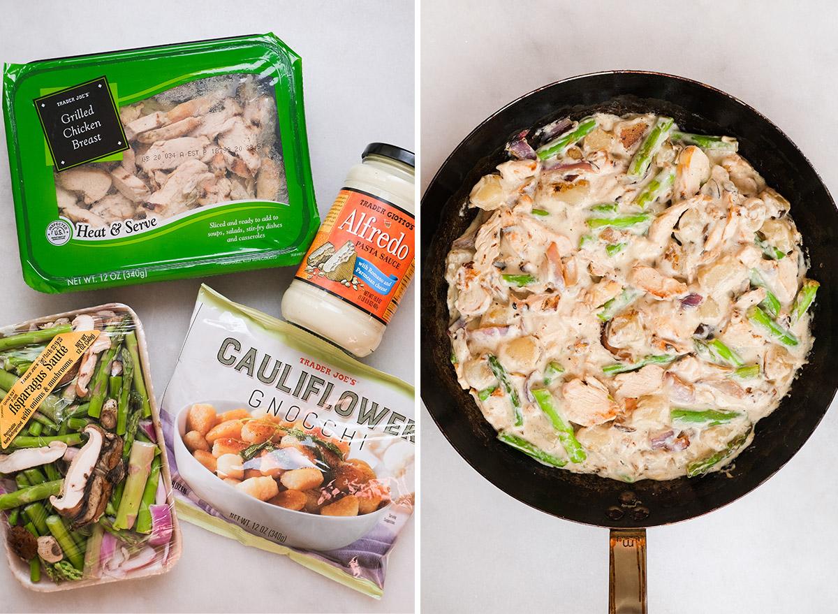 chicken alfredo gnocchi with ingredients