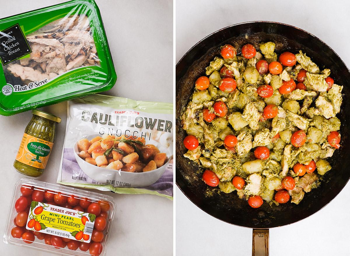 pesto cauliflower gnocchi with ingredients