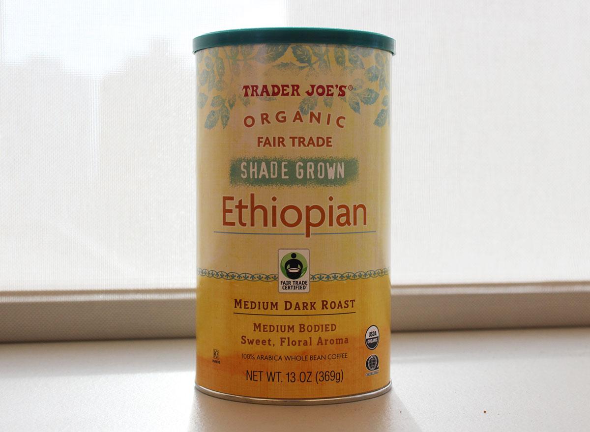 trader joes ethiopian medium dark roast coffee