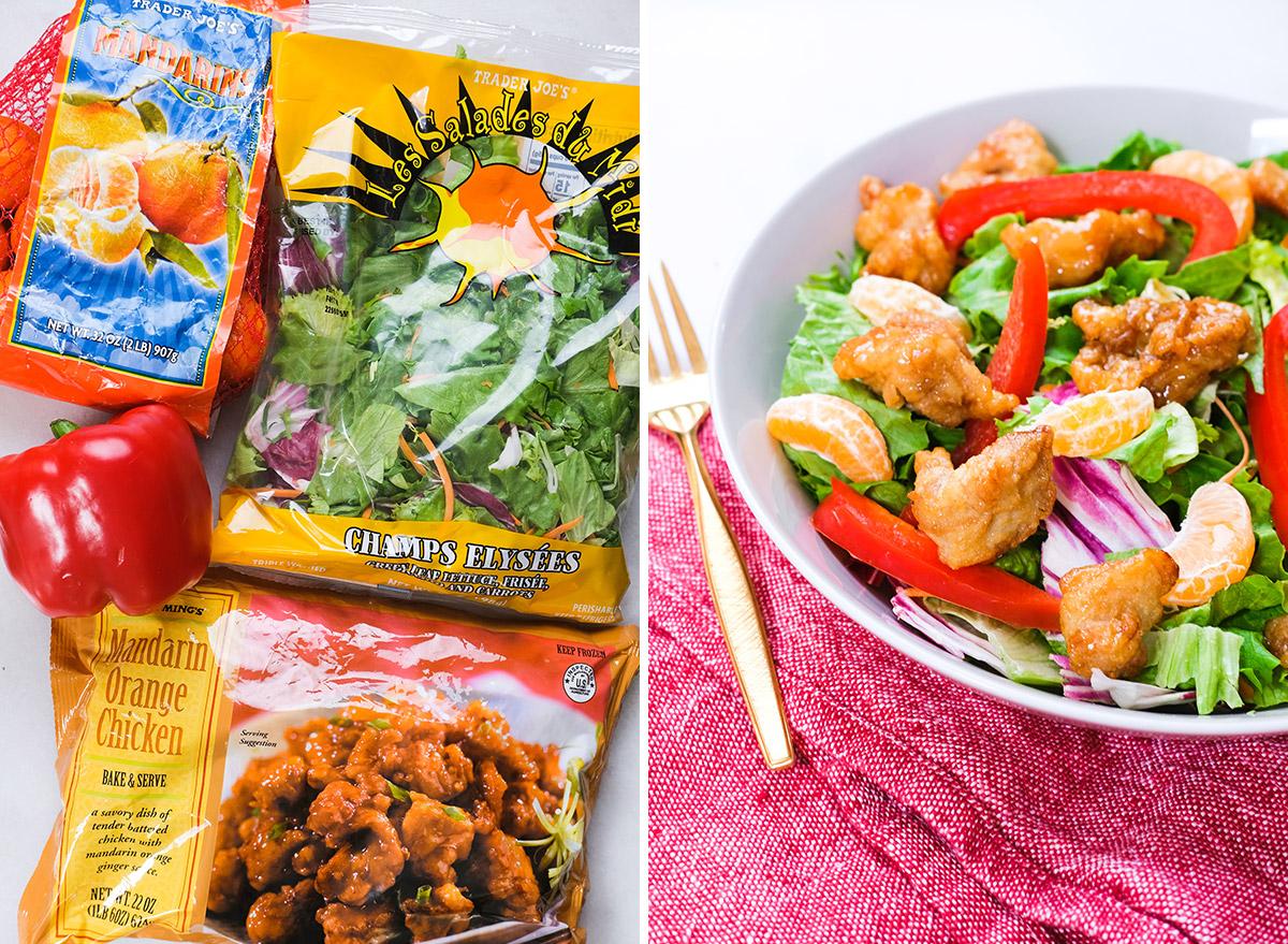 trader joes ingredients with orange chicken salad