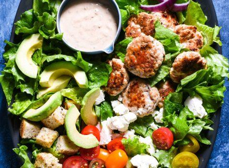 turkey burger salad