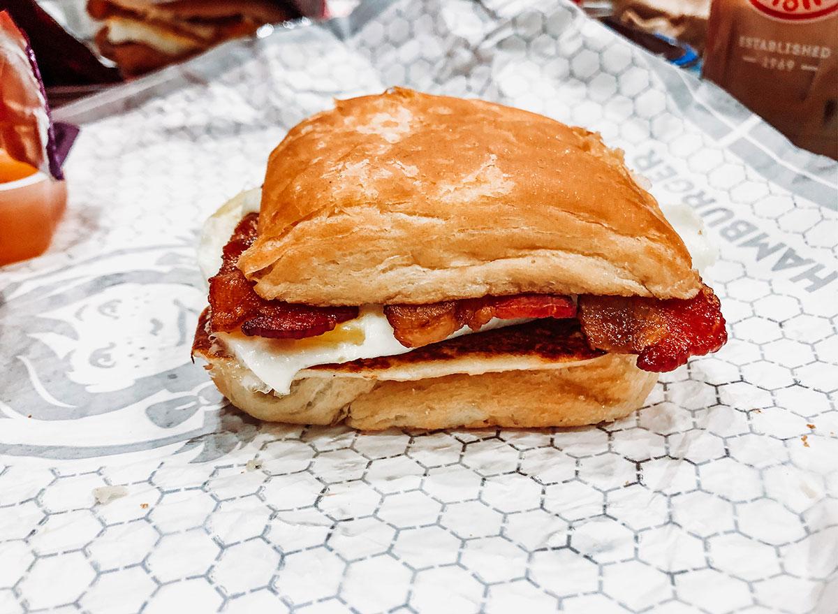 wendys bacon egg swiss croissant