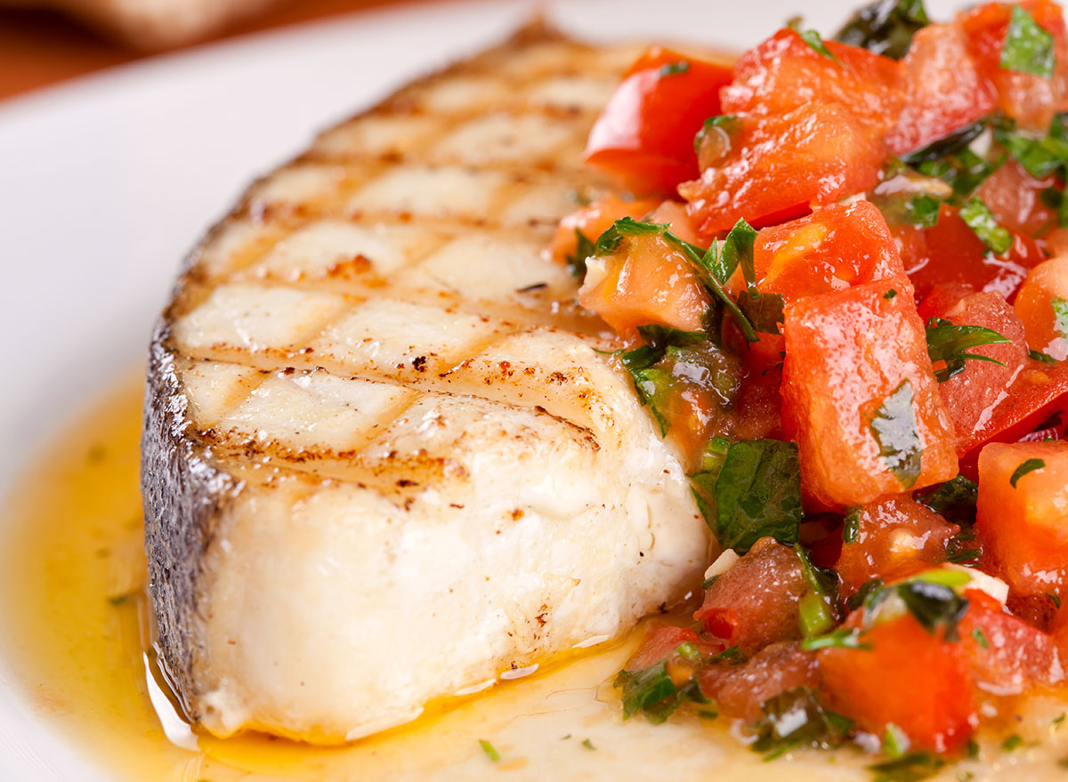 baked halibut with fresh tomatoes