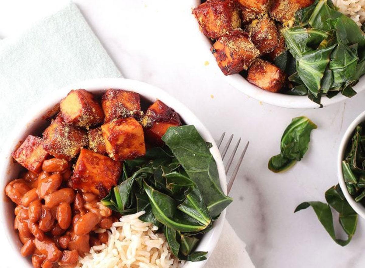 bbq tofu collard greens