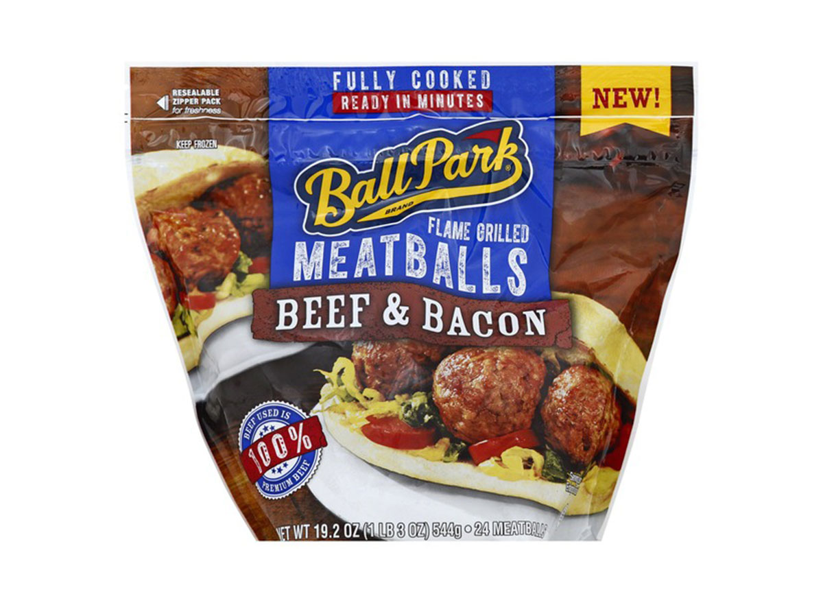 beef and bacon ball park meatballs