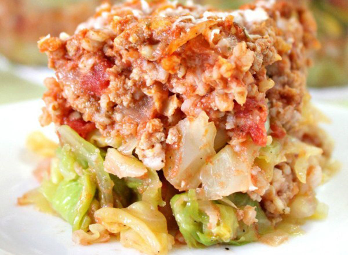 cabbage rolls lasagna