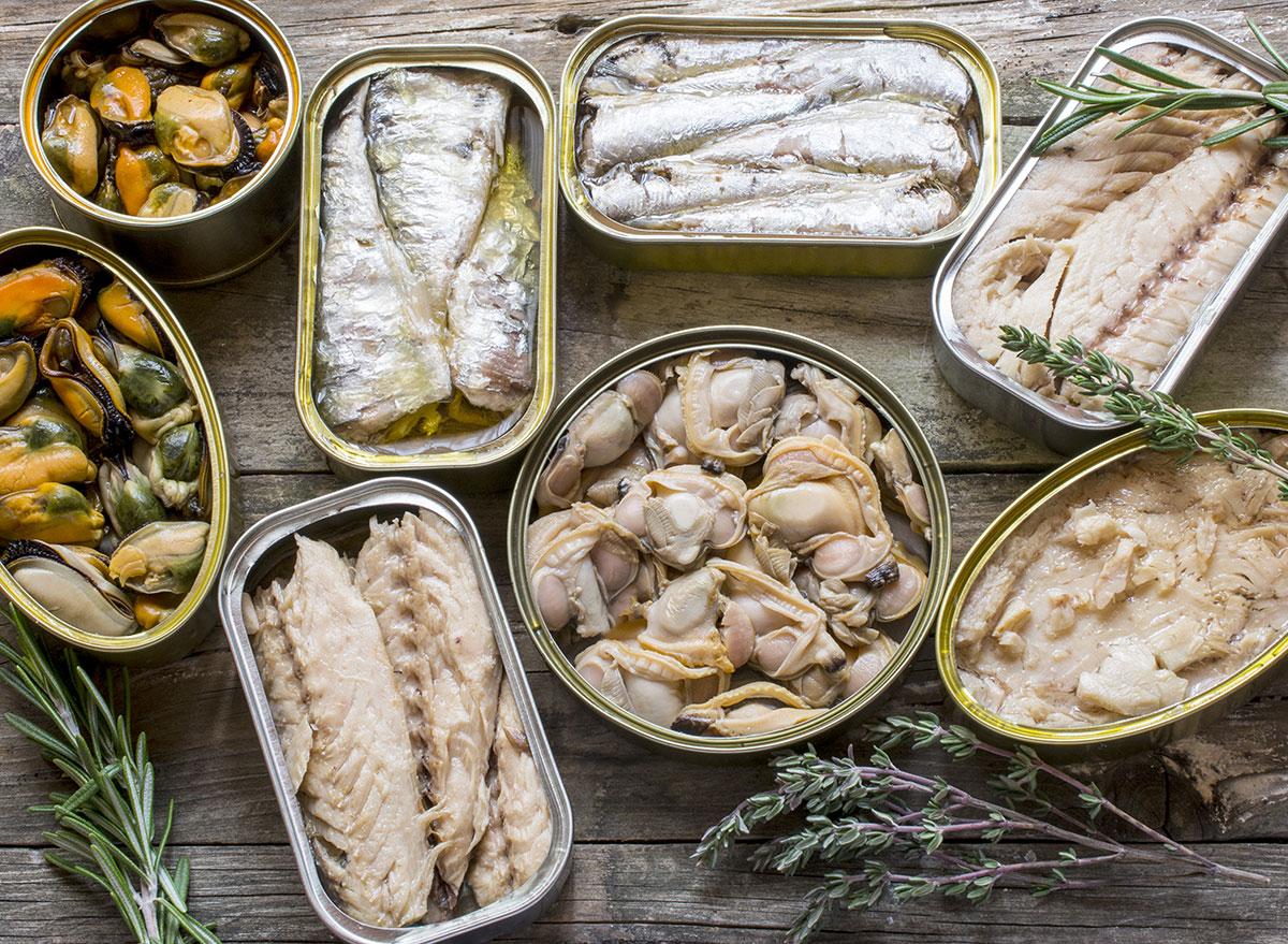 coronavirus shopping list canned fish