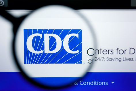 CDC website homepage