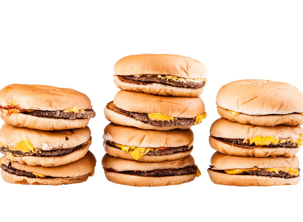 cheeseburger piles