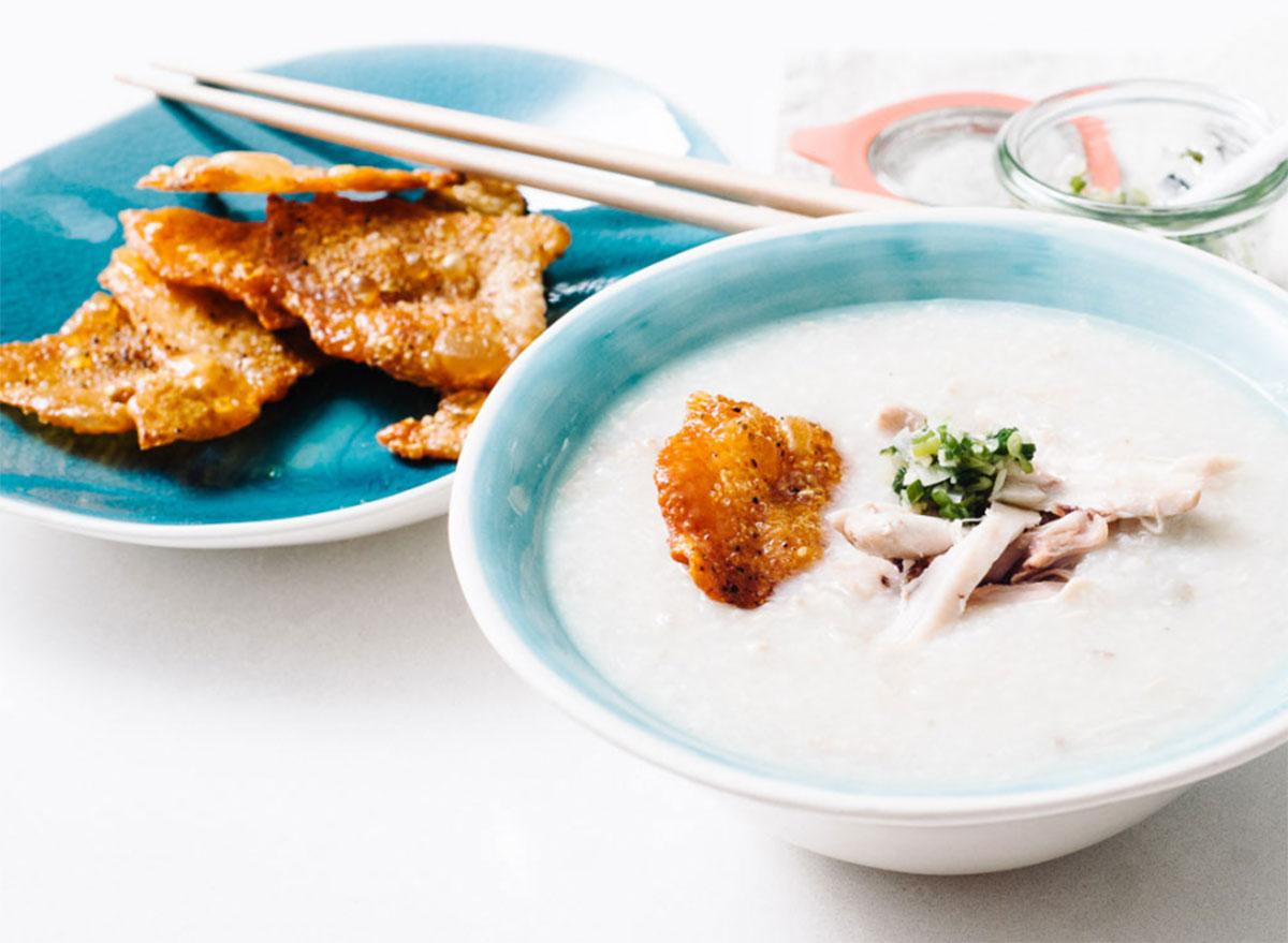 chicken congee crispy chicken