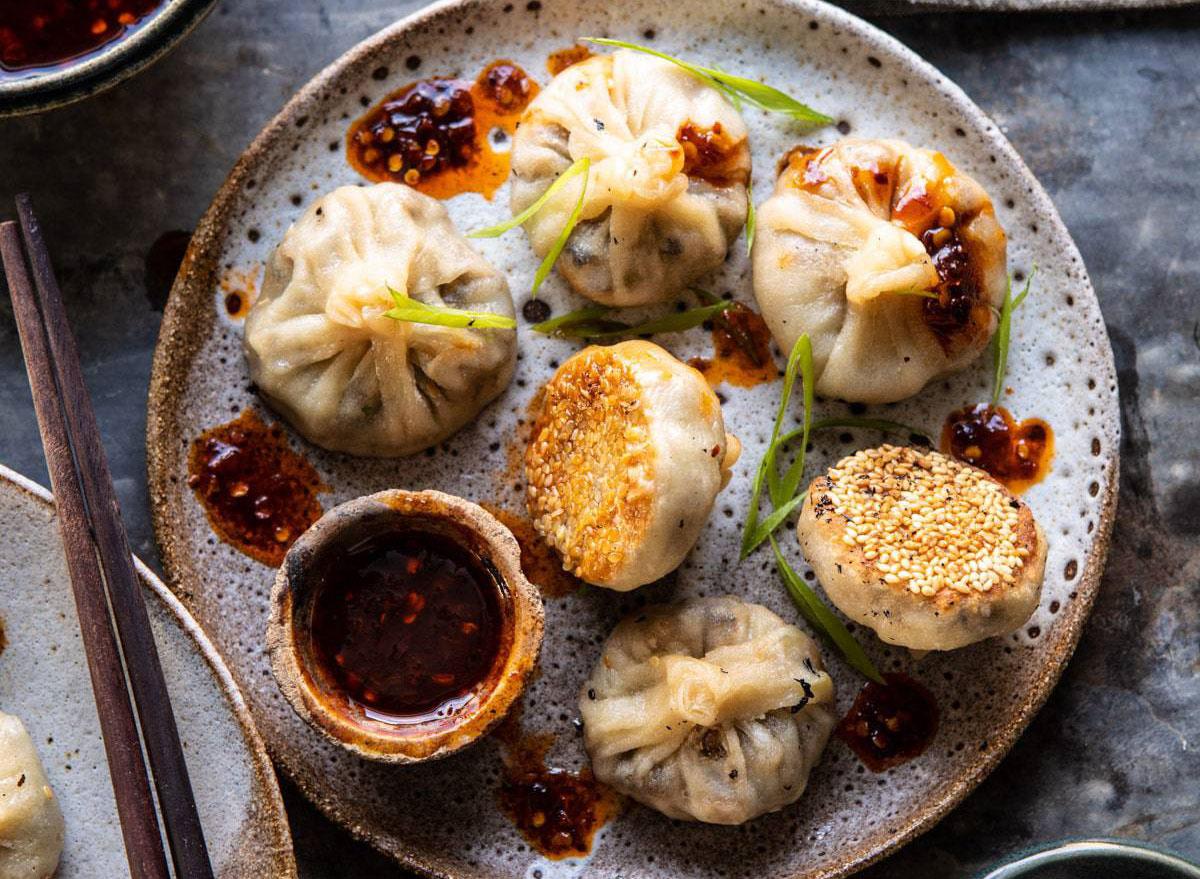 chinese mushroom dumplings