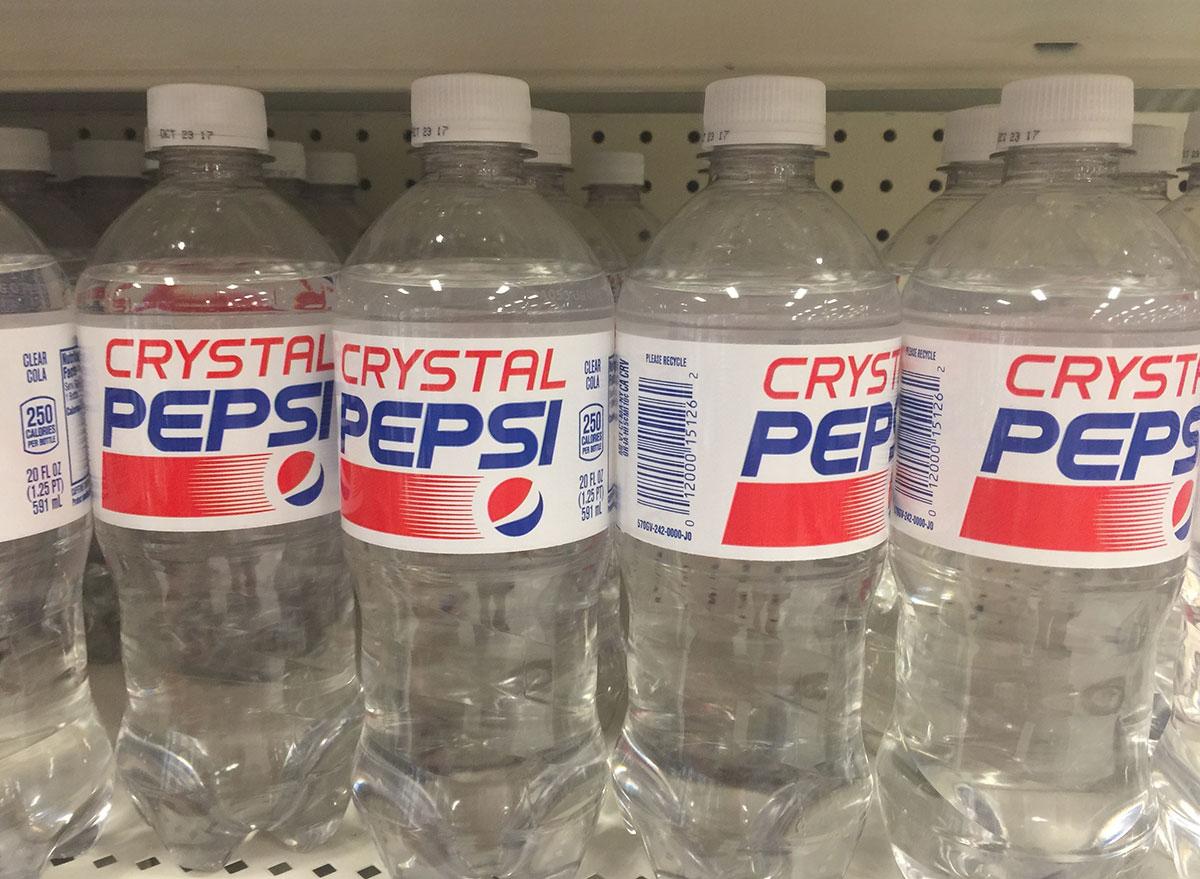 crystal pepsi bottles