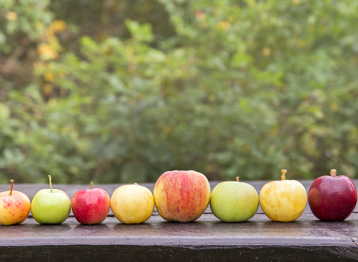different sized apples