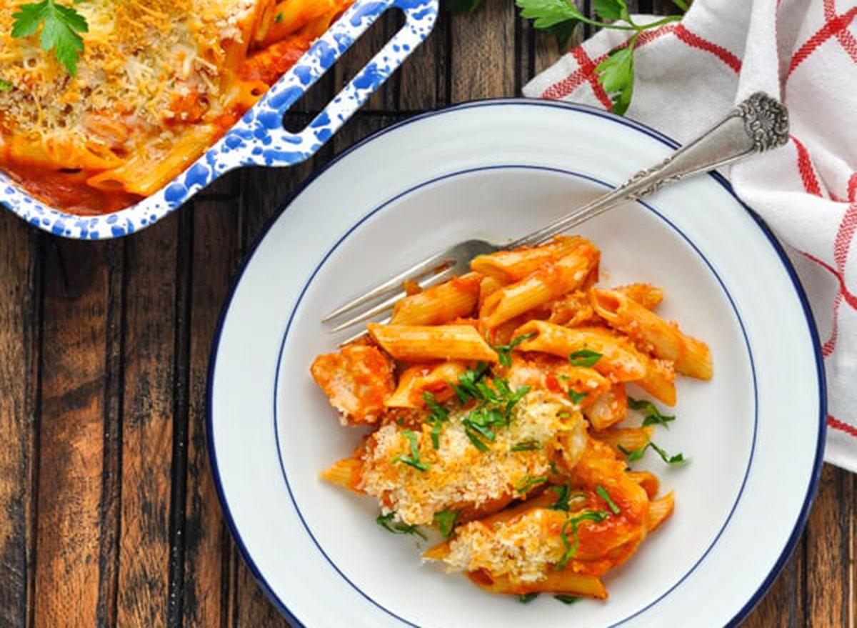 dump and bake chicken parm casserole