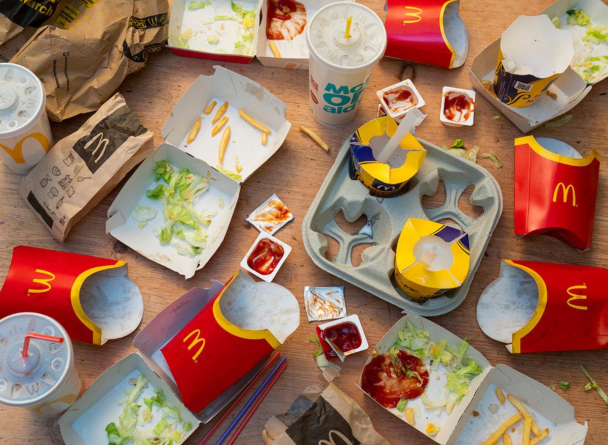 empty McDonalds containers