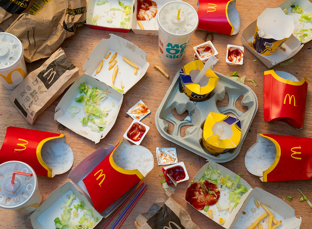 takeout mistakes empty McDonalds containers