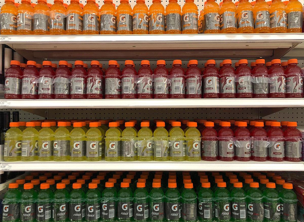 gatorade bottles in aisle