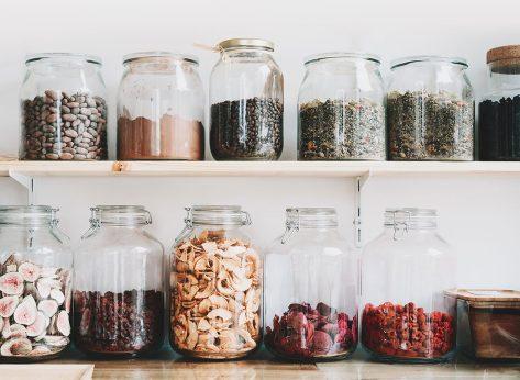 glass jars food storage