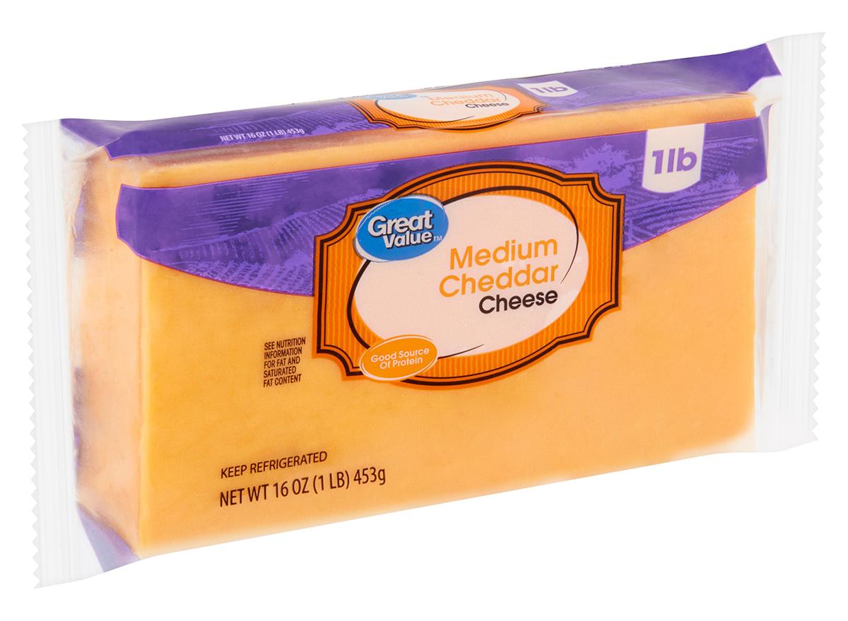 great value medium cheddar cheese
