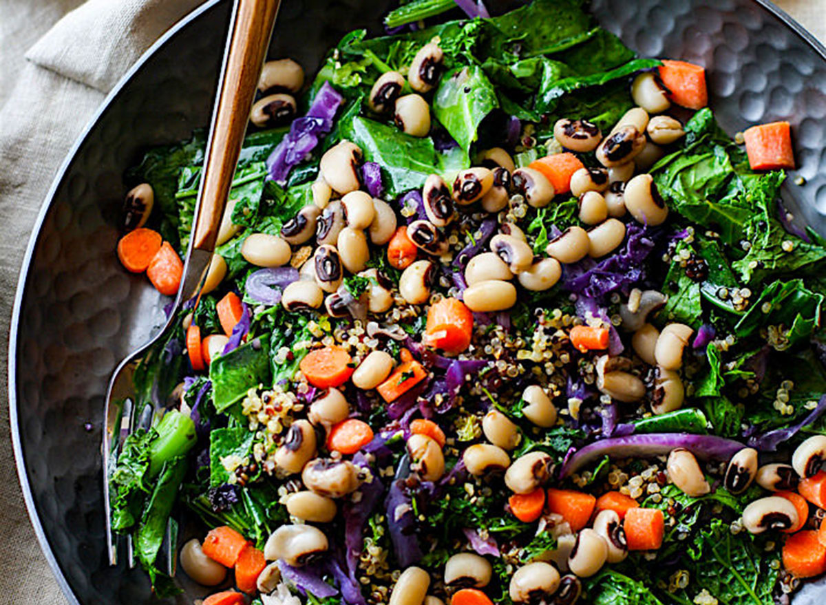 green salad black eyed peas