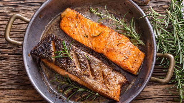 grilled seared salmon