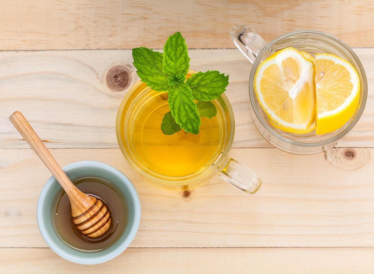 Honey citrus mint tea