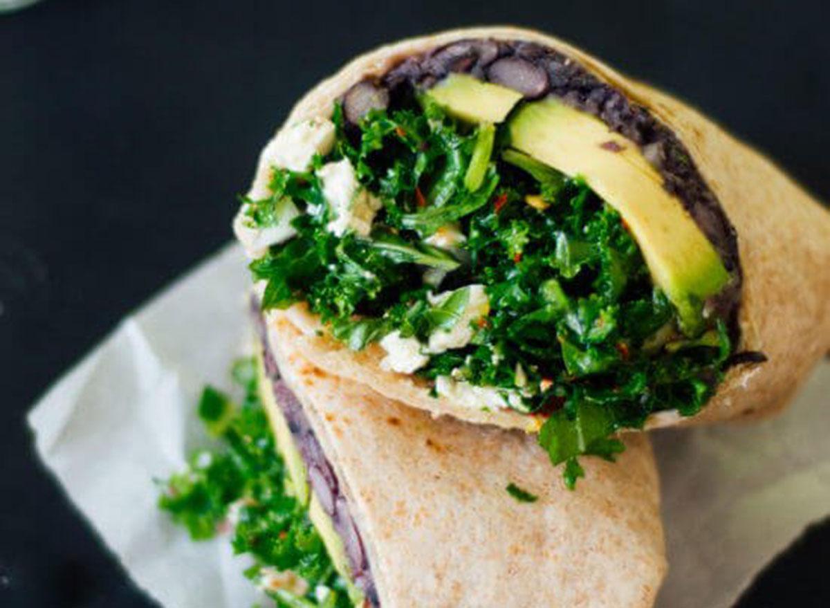 kale black bean burrito