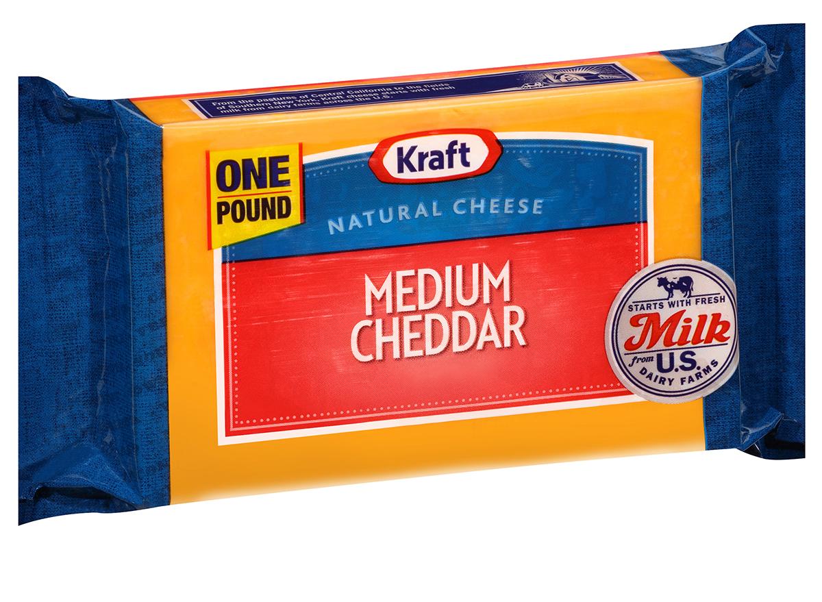 Kraft medium cheddar