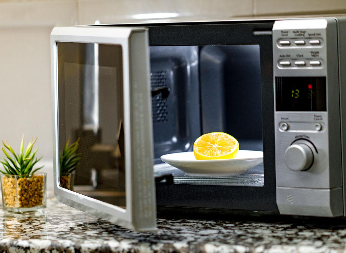 lemon microwave
