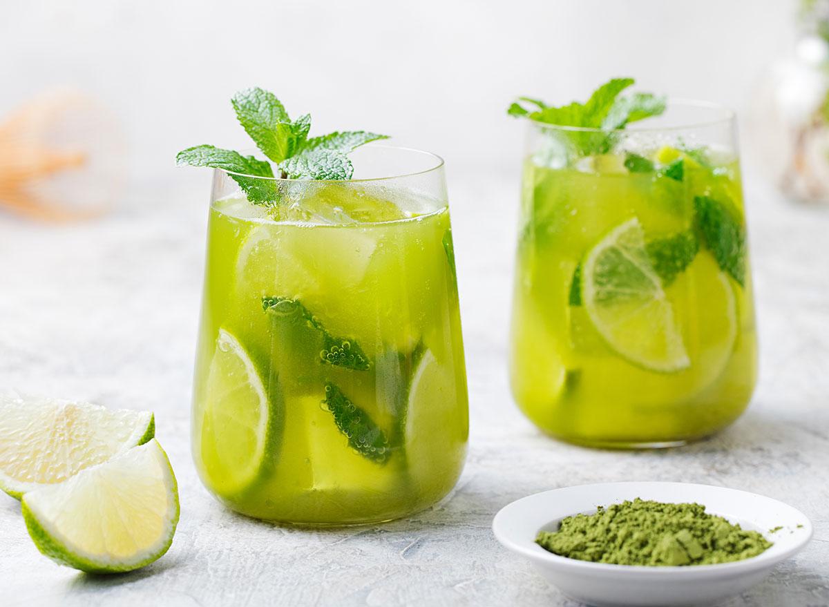 matcha iced green tea